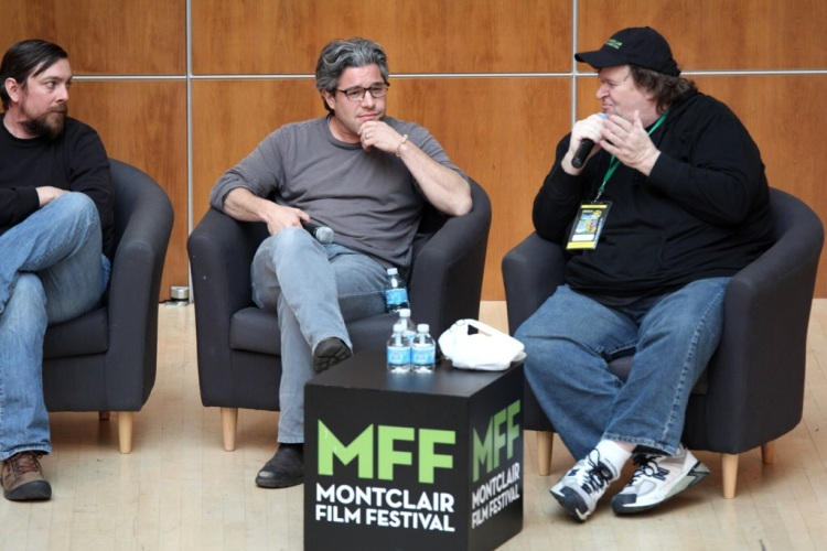 E-Team co-director, Ross Kauffman, in conversation with Michael Moore at MFF14.