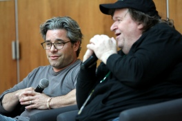 Michael Moore and Dangerous Docs, with Ross Kauffman, director of E-Team, MFF14