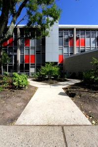 Repurposed construction grade cement demo at Montclair State University