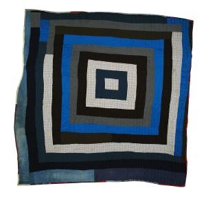 Plummer T Pettway, Housetop/Strip Quilt, ca. 1960-1970