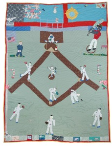 Yvonne Wells, The Great American Pastime: Homage to Jackie Robinson I, 1997