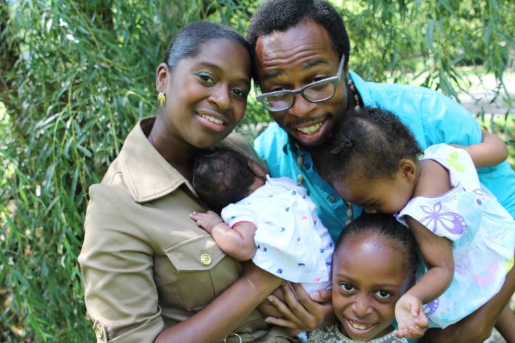 IV Valentine, Her Husband Sefu and Their 3 Daughters
