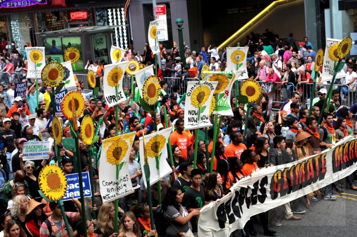 Leading the People's Climate March through Times Square