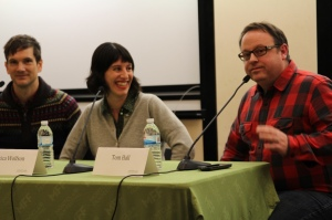 Documentary Filmmakers Paul Lovelace and Jessica Wolfson with MFF Executive Director Tom Hall