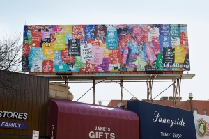 "Margeaux Walter, ""Keep Calm"" Billboard, Sunnyside, Queens, NY"