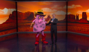 """Jeff,"" the lovable smoking mascot ""in Marlboro Country"" on the Last Week Tonight with John Oliver"