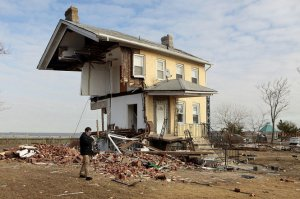 Photo from NJ.com, Union Beach Home after Hurricane Sandy